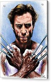 Logan Adamantium Version Acrylic Print by Andrew Read