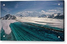 Logan Glacier Meltwater Acrylic Print