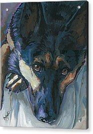 Acrylic Print featuring the painting Logan by Nadi Spencer