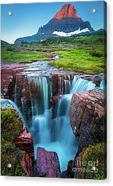 Logan Pass Abyss Acrylic Print by Inge Johnsson
