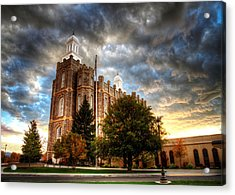 Logan Temple Cloud Backdrop Acrylic Print