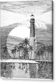 Loggerhead Key Lighthouse Acrylic Print by Lawrence Tripoli