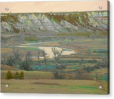Logging Camp River Reverie Acrylic Print
