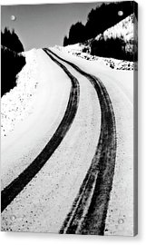 Logging Road In Winter Acrylic Print by Mark Duffy