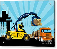 Logging Truck Acrylic Print by Aloysius Patrimonio
