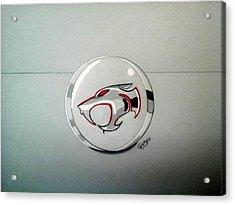 Logo Thundercats Glass 3d Acrylic Print by Giorgio Valencia