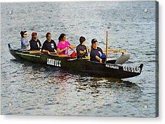 Lokahi Outrigger Canoe Club Acrylic Print