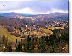 Lokve Valley In Gorski Kotar View Acrylic Print