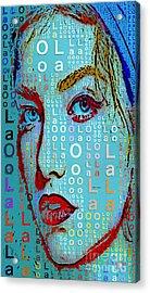 Acrylic Print featuring the digital art Lola Knows by Rafael Salazar