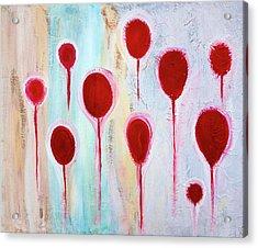 Acrylic Print featuring the painting Lollipop Garden by Frank Tschakert