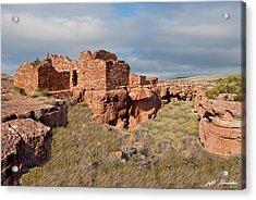 Lomaki Pueblo Ruins Acrylic Print