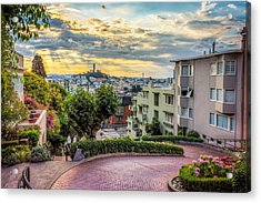 Lombard Street In San Francisco Acrylic Print by James Udall