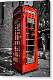 London 040 Acrylic Print by Lance Vaughn