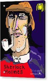 London And Sherlock Acrylic Print by Joe Jake Pratt