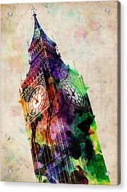 London Big Ben Urban Art Acrylic Print by Michael Tompsett
