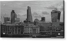 London Black And White Acrylic Print