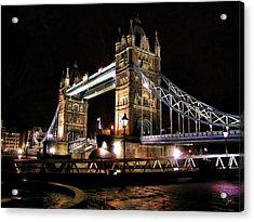 London Bridge At Night Acrylic Print by Dean Wittle