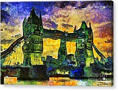 Acrylic Print featuring the digital art London Bridge by Ian Mitchell