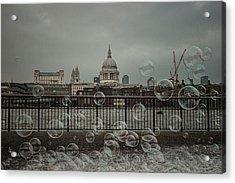 London Bubbles Acrylic Print by Martin Newman