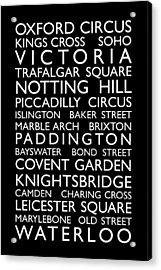 London Bus Roll Acrylic Print