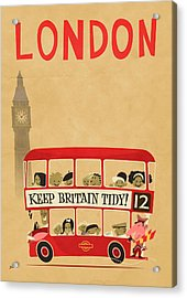 London By Bus Acrylic Print by Daviz Industries