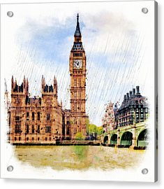 London Calling Acrylic Print by Marian Voicu