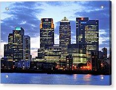 London Canary Wharf Acrylic Print by Marek Stepan