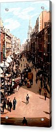 Acrylic Print featuring the painting London Cheapside by James Shepherd