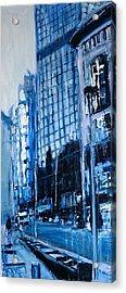 London City Blue Acrylic Print by Paul Mitchell