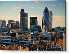 Acrylic Print featuring the photograph London City Of Contrasts by Lois Bryan