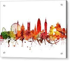 London Cityscape 04 Acrylic Print by Aged Pixel