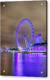 London Cityscape At Night 5x7 Acrylic Print