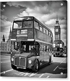 London Classical Streetscene Acrylic Print