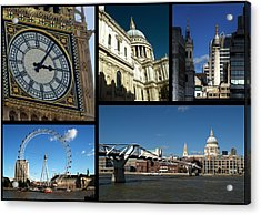 London Collage Acrylic Print