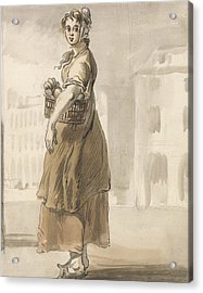 London Cries - A Girl With A Basket Of Oranges Acrylic Print by Paul Sandby