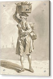 London Cries - A Man With A Basket  Acrylic Print by Paul Sandby