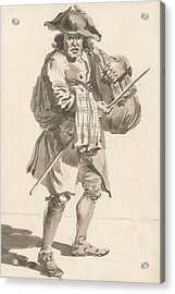 London Cries - A Man With A Bundle, Old Clothes Acrylic Print by Paul Sandby