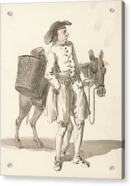 London Cries - Boy With A Donkey Acrylic Print by Paul Sandby