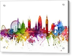 London England Cityscape 06 Acrylic Print by Aged Pixel