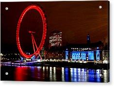 London Eye Acrylic Print by Heather Applegate