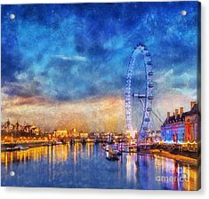 Acrylic Print featuring the photograph London Eye by Ian Mitchell