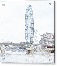 London Eye In Pencil Acrylic Print