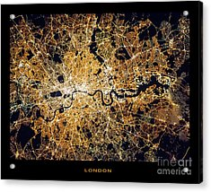 Acrylic Print featuring the photograph London From Space by Delphimages Photo Creations
