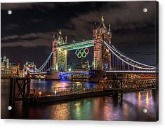 London Gold Acrylic Print