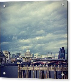 London I Love You.  #skyline #sky Acrylic Print