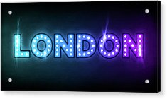 London In Lights Acrylic Print by Michael Tompsett