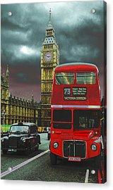 London Acrylic Print by Kobby Dagan