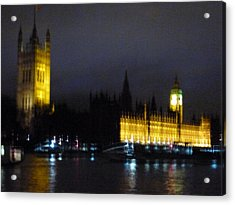 Acrylic Print featuring the photograph London Late Night by Christin Brodie