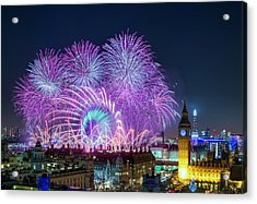 London New Year Fireworks Display Acrylic Print