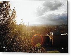 London Partialy Cloudy With A Chance Of Flare Acrylic Print by Patrick Murphy